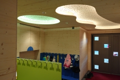 Plafond perforé - incrustation de LED